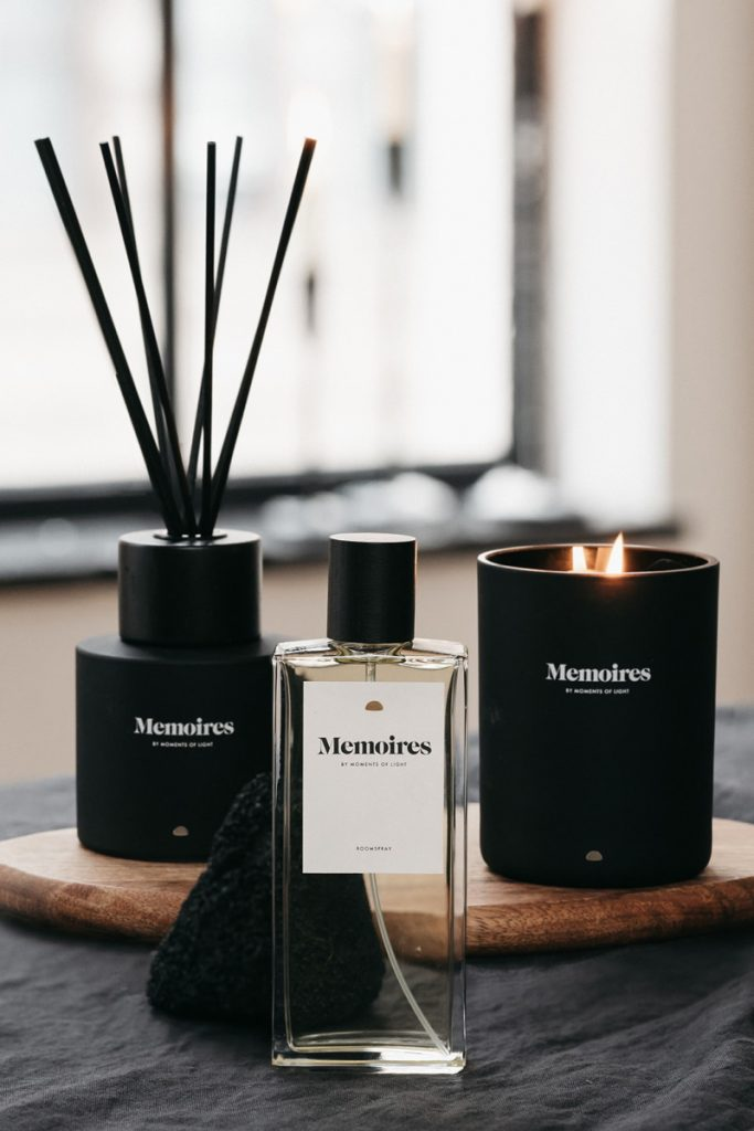 HeyHej | Moments Amsterdam Collectie Memoires roomspray, scented candle & fragrance diffuser.